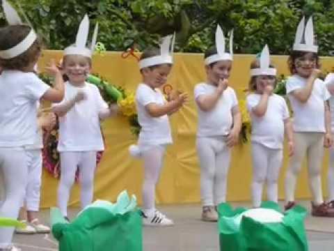 La danse des lapins youtube - Le petit lapin s est sauve dans le jardin ...