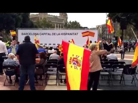 Fiesta de la Hispanidad 12 octubre 2015 en la plaza Catalunya de Barcelona