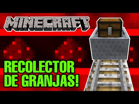 Sistema De Recolección De Granjas Con Vagonetas / Minecraft 1.11.2