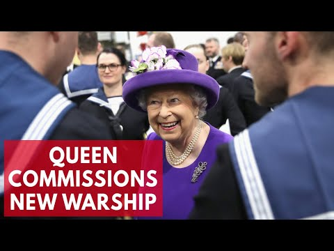 Queen commissions Britain's most expensive aircraft carrier