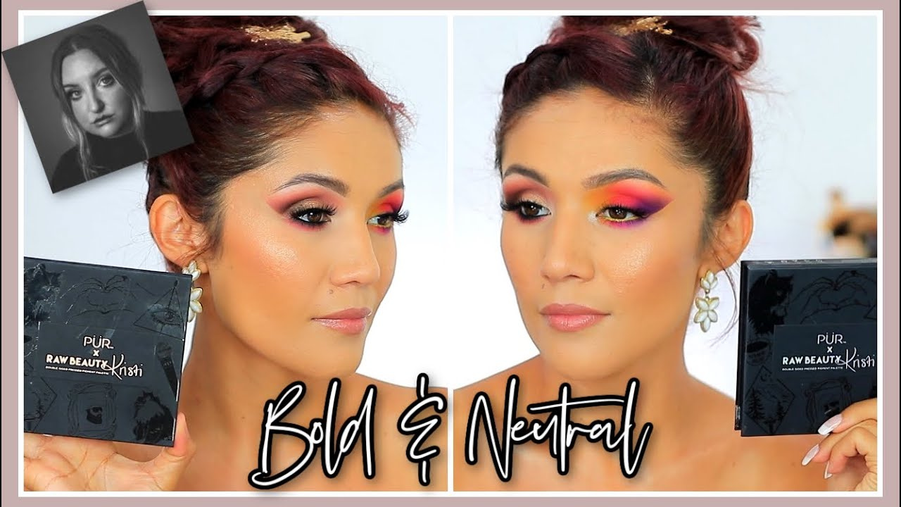 Raw Beauty Kristi Palette TRY-ON II Creating 2 different EyeShadow Looks
