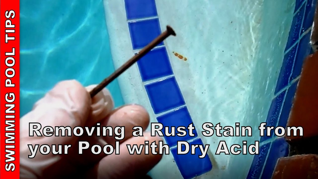 removing rust stains from your pool youtube. Black Bedroom Furniture Sets. Home Design Ideas