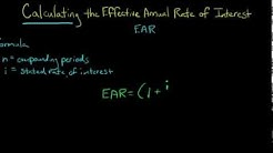 How to Calculate the Effective Annual Rate of Interest (EAR)