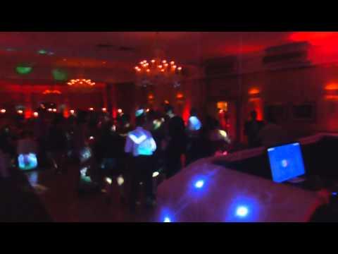 London Wedding DJ - Wedding With Red Uplighting - Hendon Hall Hotel
