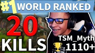 Myth's 20 Kills Best Fortnite Solo Game #96 (#1 WORLD RANKED PLAYER)