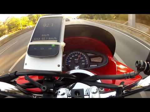 Honda PCX Top Speed - GPS