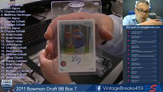 06-18-2019 2011 Bowman Draft Baseball Box 7 Break Opening Video