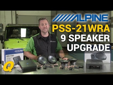 Alpine PSS21WRA Complete Sound System Upgrade Install for Jeep Wrangler