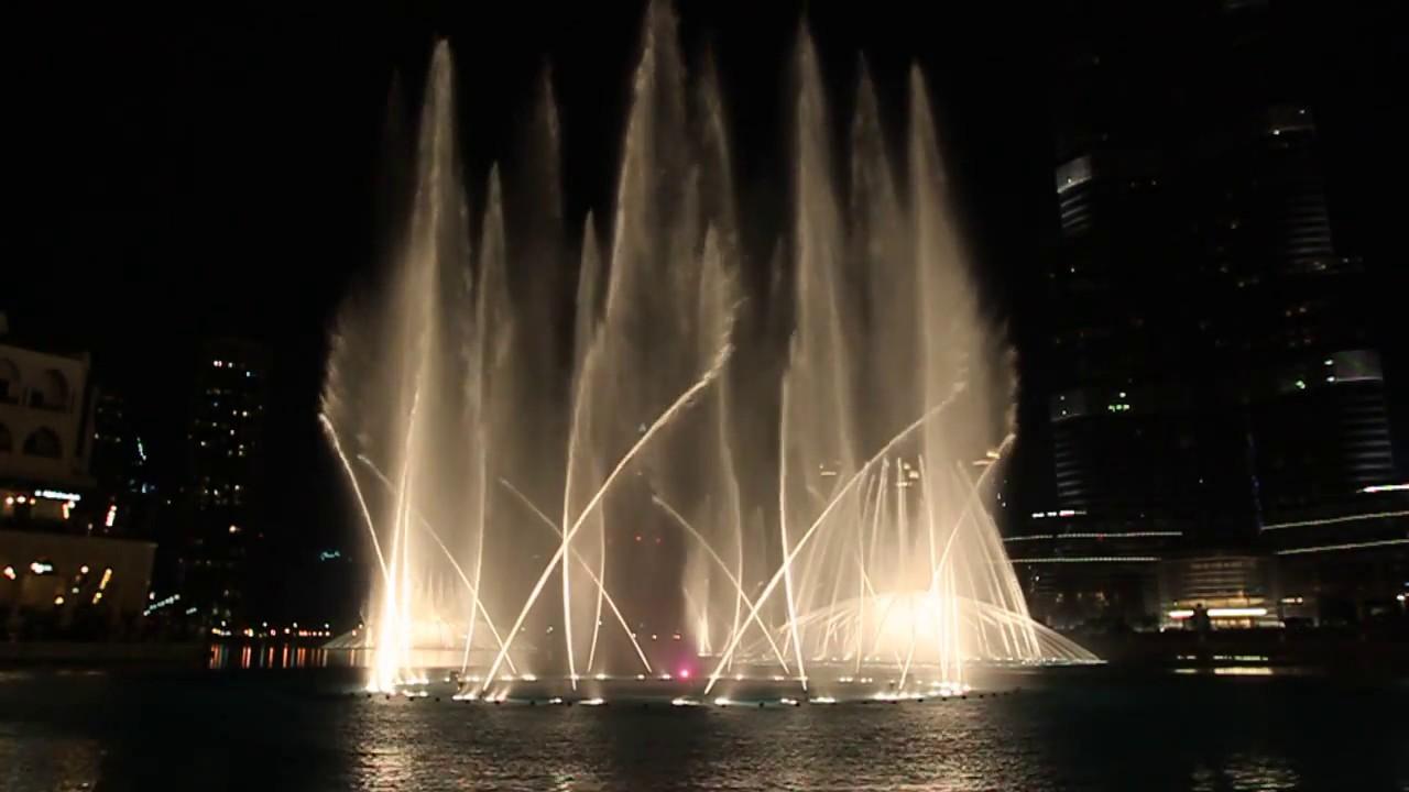 Dubai Fountain Performs Time To Say Goodbye Youtube