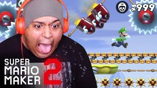 HANDS DOWN, NO JOKE, THE HARDEST LEVEL EVER CREATED! [SUPER MARIO MAKER 2] [#21]