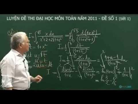 Giải đề thi đại học môn Toán năm 2011 – Đề số 1 Tiết 1 P3 | luyenthi.hoc360.vn