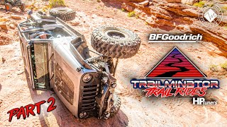 Trailminator Trail Rides - Part 2   Rollover on Rock Pile!   Easter Jeep Safari Rock Crawling