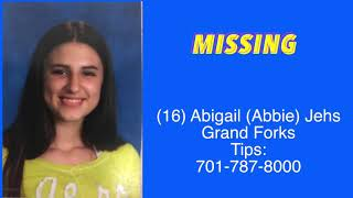 RETURNED HOME, SAFE! Missing Grand Forks Teenager