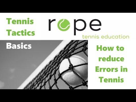 Tennis Tactics Basics - Part 5 - How to reduce Errors in Tennis