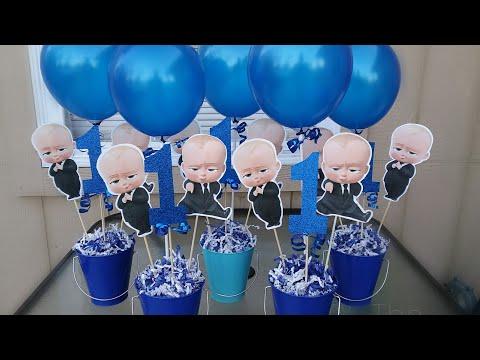 Diy BOSS BABY Centerpiece | Boss baby party diy