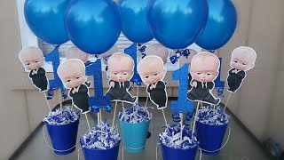 Diy Boss Baby Centerpiece | Boss Baby Party Diy