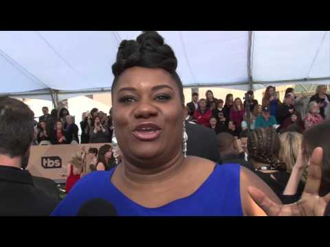 Adrienne C Moore Exclusive Interview at SAG Awards Carpet