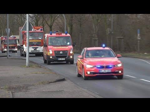 Einsatzfahrten Gasalarm/MANV in Oer-Erkenschwick