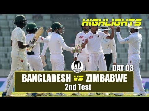 Bangladesh vs Zimbabwe Highlights || 2nd Test || Day 3 || Zimbabwe tour of Bangladesh 2018 thumbnail