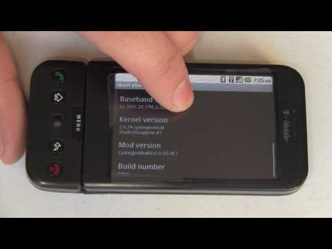 Android 2.2 on the T-Mobile G1