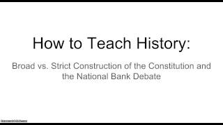 loose and strict constructionism essay Strict constructionism is also used in american political discourse as an umbrella term for conservative legal philosophies such as originalism and textualism, which emphasize judicial restraint and fidelity to the original meaning of constitutions and laws.