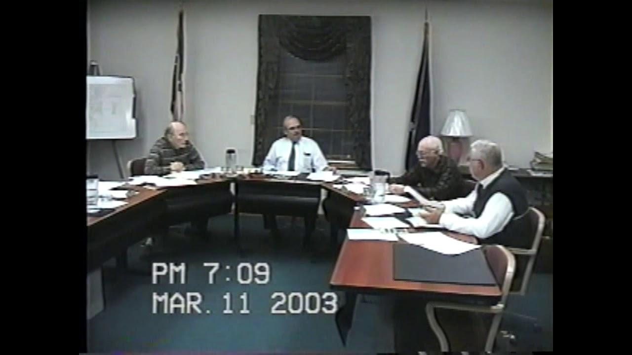 Champlain Town Board Meeting  3-11-03