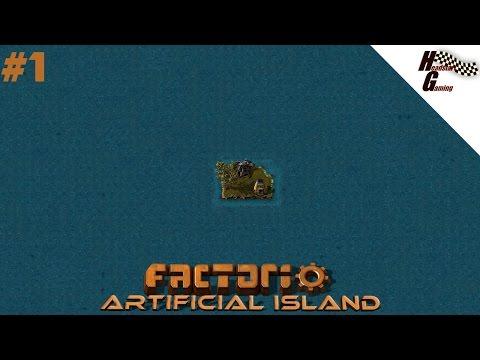 """Starting off again!"" Factorio - Artificial island series#1"