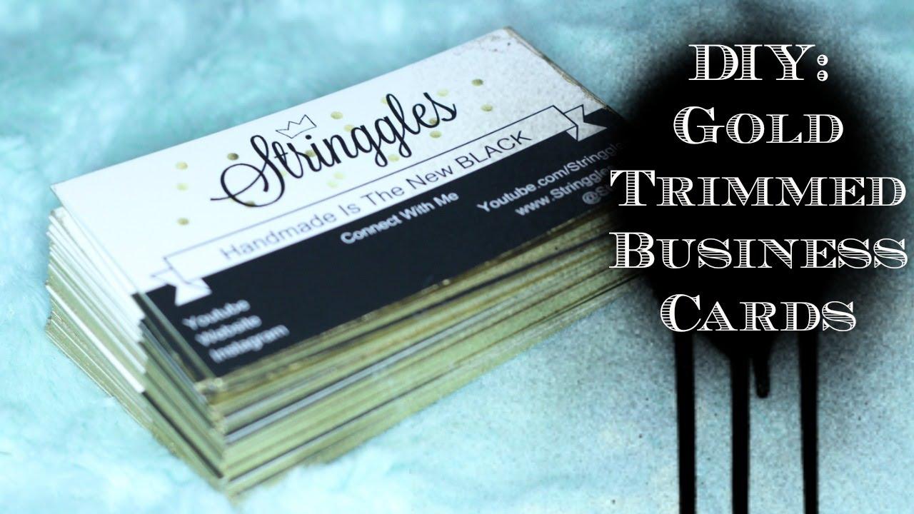 Diy gold border business cards youtube diy gold border business cards reheart Choice Image