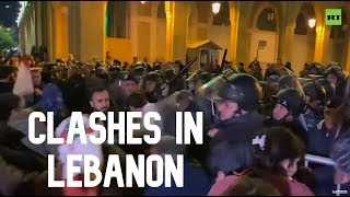 Lebanese protesters clash with cops outside ex-PM's office amid concern that he could be reappointed