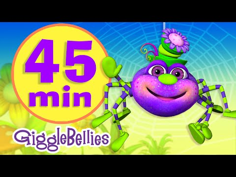 Itsy Bitsy Spider  | 16 More Nursery Rhymes | Giggle Bellies