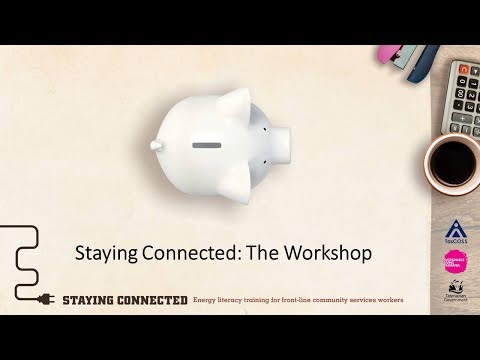 Staying Connected - Energy literacy training for front-line community service workers