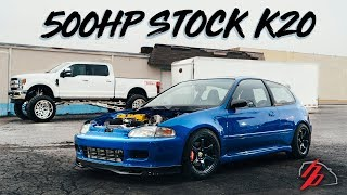 Stock K20 Gets Sent To 500HP Without A Sweat!