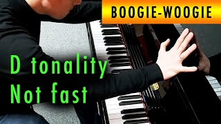 Not so fast boogie woogie piano in D - Ben Toury