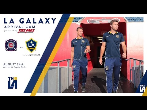 LA Galaxy arrive at Toyota Park | ARRIVAL CAM - Presented by TirePros
