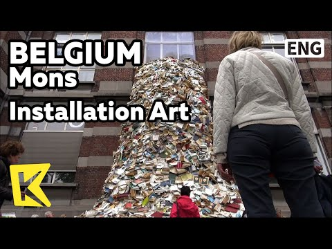 【K】Belgium Travel-Mons[벨기에 여행-몽스]설치 미술/Mons/Installation Art/Book Waterfall/University of Mons