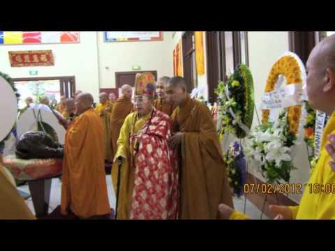 Chư Tôn Đức viếng Tang Lễ Cố Đại Lão Hoà Thượng Phước Huệ