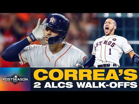 Carlos Correa's 2017 + 2019 ALCS Game 2 Walk-Offs vs. Yankees