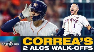 Carlos Correa's 2017 + 2019 ALCS Game 2 Walk-Offs vs. Yankees