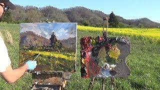 Kyle Buckland Timelapse -  Plein Air Landscape Oil Painting Demonstartion