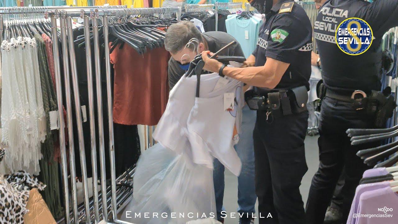 Policía Local de Sevilla interviene 7500 prendas falsificadas por valor de 200.000 euros