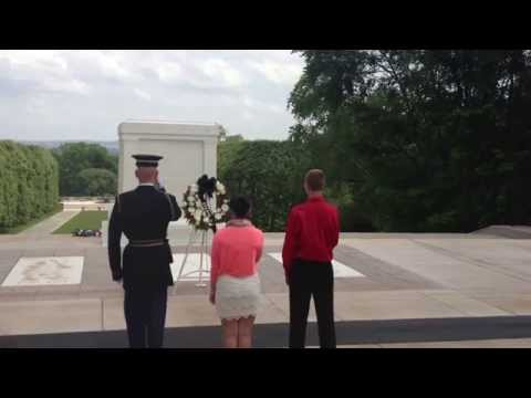 Everts Middle School - Tomb of Unknowns Wreath Presentation 2014