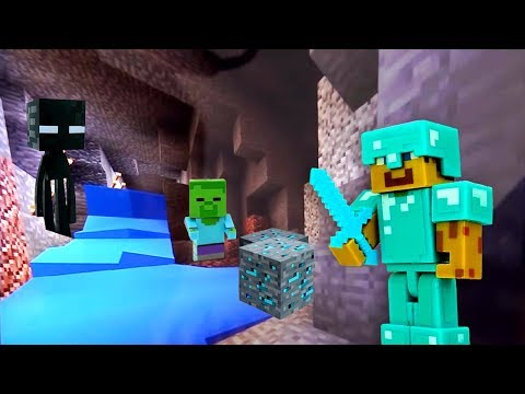 Видео игры для мальчиков - Стив Майнкрафт исследует пещеры!