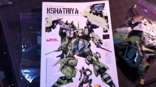 G-system 1/72 Kshatriya Gundam Part Layout