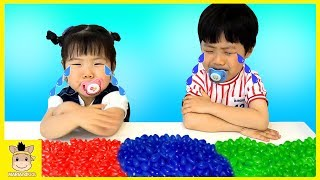 Learn Colors with M&M`s Candy & JOHNY JOHNY Yes Papa Nursery Rhymes Simple Songs | MariAndKids Toys