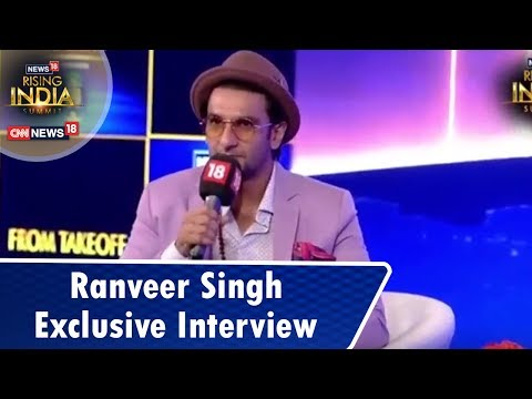 Ranveer Singh Exclusive  by Rajeev Masand  18RisingIndia Summit