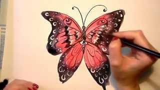 07 Ирина Колобова Как нарисовать красивую бабочку