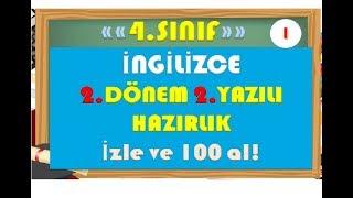 4.Sınıf İngilizce 2.Dönem 2.Yazılı Hazırlık 1-Yardımcı Öğretmen Video