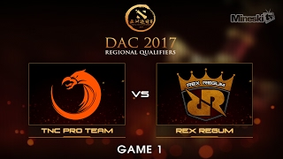 TNC Pro Team vs Rex Regum  | Dota 2 Asia Championship | Group Stage | Best of 3 | Game 1(Series Link: Help us promote eSports! Subscribe: http://bit.ly/1ALBjGb Stream: http://twitch.tv/mineskitv Like us on Facebook: ..., 2017-02-04T06:21:06.000Z)