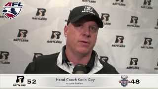 8-3-14, Coach Kevin Guy, Arizona Rattlers Post Game Vs Portland Thunder