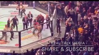 Total Chaos. UFC Khabib vs Mcgregor- after the fight- teams rumble - MADNESS
